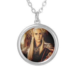 Thranduil Movie Poster Silver Plated Necklace