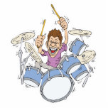 thrashing drummer acrylic cut outs