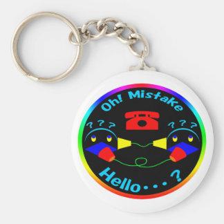 Thread telephone basic round button key ring