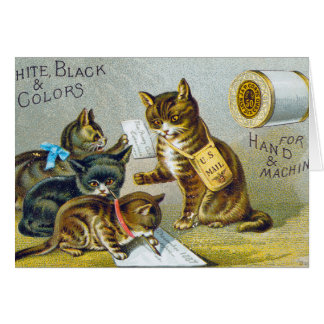 Thread Trade Card, 1880 Card