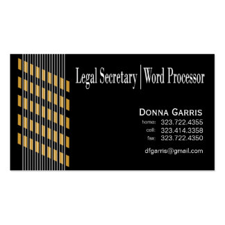Threaded Ribbons Legal Secretary Word Processor Business Card
