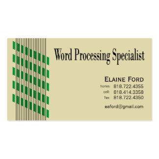 Threaded Ribbons Word Processing Specialist Expert Double-Sided Standard Business Cards (Pack Of 100)