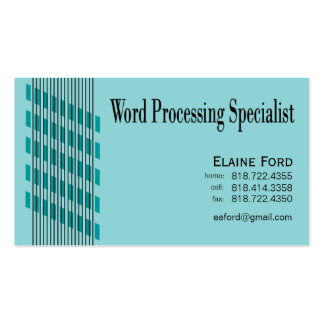 Threaded Ribbons Word Processing Specialist Expert Pack Of Standard Business Cards