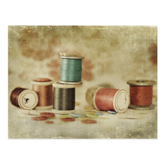 threads and buttons postcard
