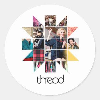 ThreadShow Star Bust Round Sticker