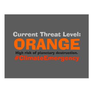 Threat Level Orange Resist Trump Postcard