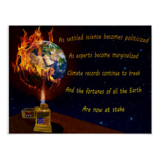 Threat of Global Warming Poster