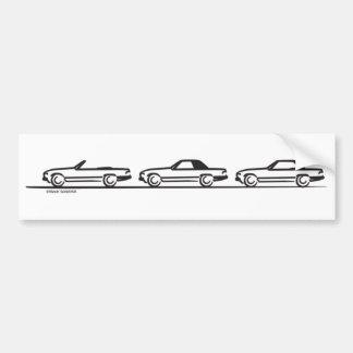 Three 107 SLs Bumper Sticker