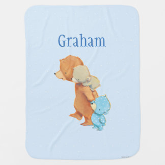 Three Adorable Bear Friends Baby Blanket