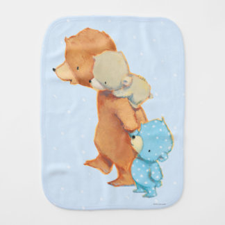 Three Adorable Bear Friends Burp Cloth