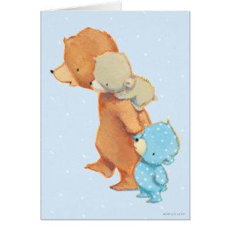 Three Adorable Bear Friends Card
