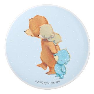 Three Adorable Bear Friends Ceramic Knob