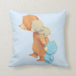 Three Adorable Bear Friends Cushion