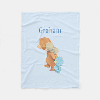 Three Adorable Bear Friends Fleece Blanket