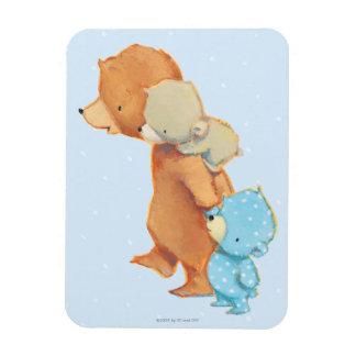 Three Adorable Bear Friends Magnet