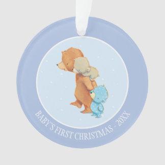 Three Adorable Bear Friends Ornament