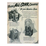 Three All Star Cameras Postcard