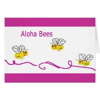 three aloha bees card