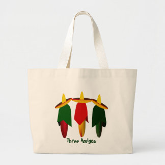 Three Amigo Hot Peppers Tote Bag