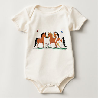 Three Amigos Horse Lover  Infant Creeper