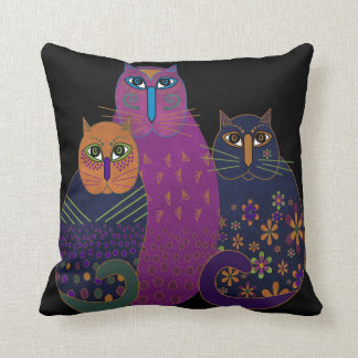 Three Amigos Kitties Pillow Cushion