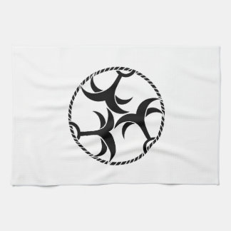 Three anchors with rope tea towel