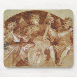Three Angel Musicians Mouse Mat