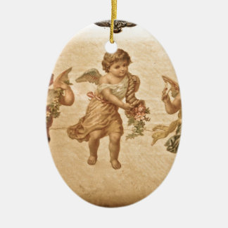 Three Angels (Antique) Ceramic Oval Decoration