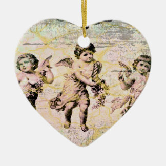 Three Angels (Antique) Christmas Ornament