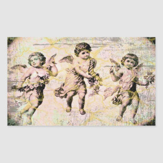 Three Angels (Antique) Rectangular Sticker