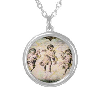 Three Angels (Antique) Silver Plated Necklace