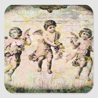 Three Angels (Antique) Square Sticker
