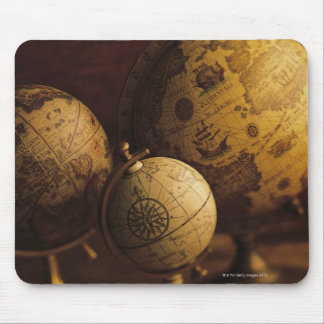 Three antique globes mouse pad