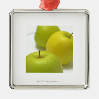 Three apples, close-up christmas ornament