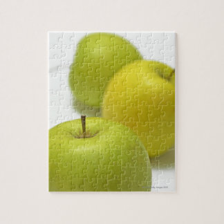 Three apples, close-up jigsaw puzzle