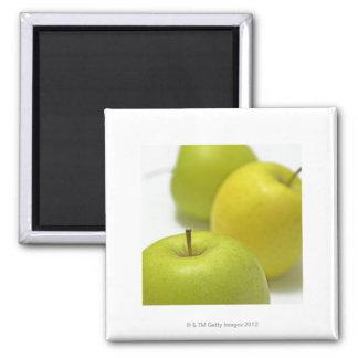 Three apples, close-up square magnet