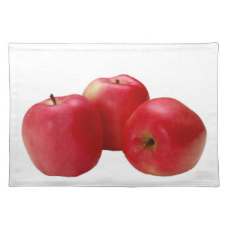 """Three apples"" design placemats"