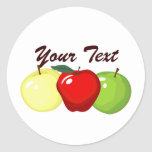 Three Apples Stickers