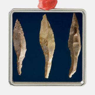 Three arrow heads christmas ornament