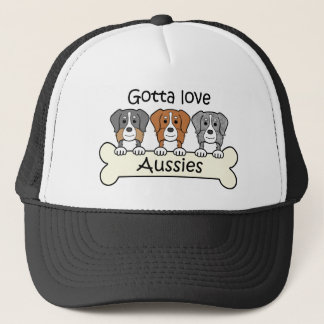 Three Australian Shepherds Trucker Hat