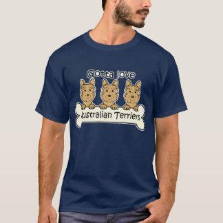 Three Australian Terriers T-Shirt