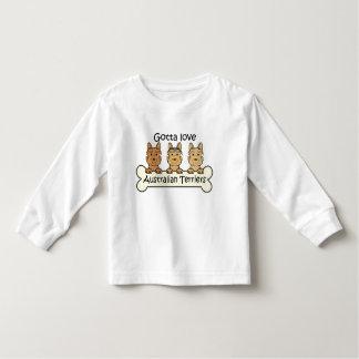 Three Australian Terriers Toddler T-Shirt