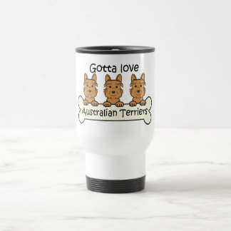 Three Australian Terriers Travel Mug