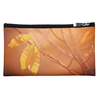 Three autumn leaves cosmetic bag
