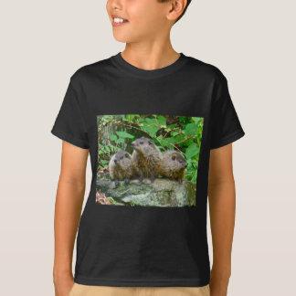 Three Baby Groundhogs T-Shirt