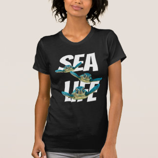 Three Baby Sea Turtles Swimming T-Shirt