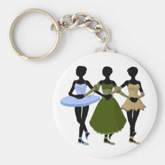 Three Ballerinas Keychain
