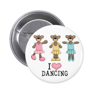 Three Ballet Bears 6 Cm Round Badge