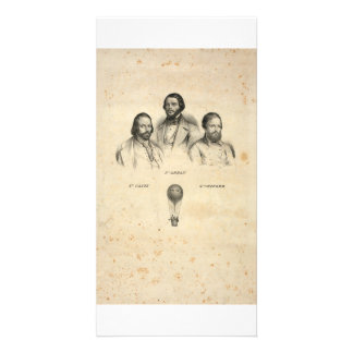 Three Balloonists collector photo cards