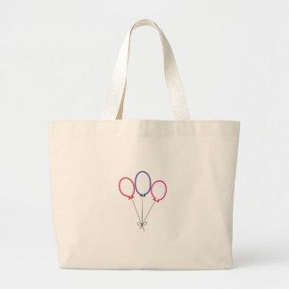 Three Balloons Large Tote Bag